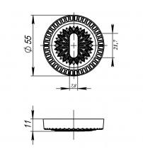 "Накладки под ключ ""Буратино"" ARMADILLO CLASSIC NORMAL PS/CL-FG-10 (французское золото, 2 шт.)"
