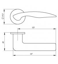 """Ручка раздельная ARMADILLO URBAN Slim """"WAVE"""" URS BPVD-77 (воронёный никель)"""