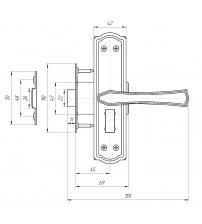 Защёлка с фиксатором в комплекте с ручками AVERS ЗЩ1Д-2-6 (белый)