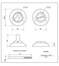 Фиксатор DENALI BK-R AB (античная бронза)