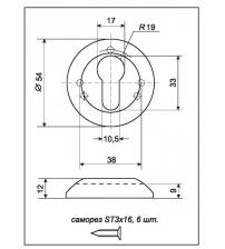 Накладки на цилиндр DENALI ET-R SN/NP (матовый никель/полированный никель)