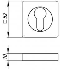 Накладки на цилиндр DENALI ET-S AB (античная бронза)