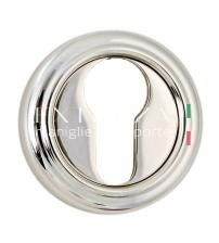 Накладки на цилиндр EXTREZA Classic YALE R01/F24 (натуральное полированное серебро/чёрный)