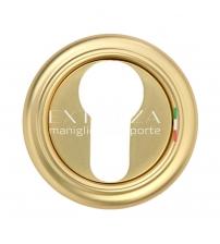 Накладки на цилиндр EXTREZA Classic YALE R01/F59 (французское золото/коричневый)