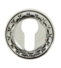 Накладки на цилиндр EXTREZA Classic YALE R02/F24 (натуральное полированное серебро/чёрный)
