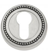 Накладки на цилиндр EXTREZA Classic YALE R03/F24 (натуральное полированное серебро/чёрный)