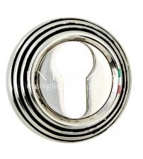 Накладки на цилиндр EXTREZA Classic YALE R05/F24 (натуральное полированное серебро/чёрный)