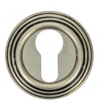 Накладки на цилиндр EXTREZA Classic YALE R05/F64 (старинное серебро матовое/чёрный)