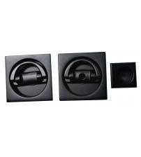 Ручки для распашных/раздвижных и дверей книжек EXTREZA Hi-Tech P406/F22 (матовый чёрный)
