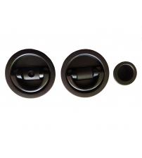 Ручки для распашных/раздвижных и дверей книжек EXTREZA Hi-Tech P405/F22 (матовый чёрный)