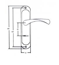 Ручки дверные на планке FERRE 008.55 BR (коричневый)