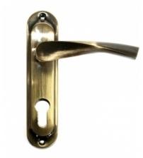 Ручки дверные на планке FERRE 61.323 mini CYL AB (бронза)