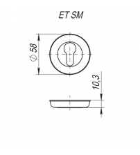 Накладка под  цилиндр FUARO ET SM AB-7 (матовая бронза)