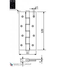 Петля пружинная JUSTOR 5314.01 120 мм (матовый хром, до 30 кг)