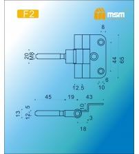 Петля для финской двери MSM F2 PN (хром)