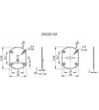 Декоративная накладка на сувальдный замок PUNTO ESC021-SS (нержавейка, 1 пара)