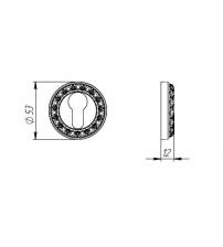 Накладка под цилиндр PUNTO ЕТ MT OS-9 (античное серебро)