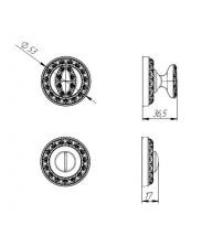 Фиксатор PUNTO BK-6 MT OS-9 (античное серебро)