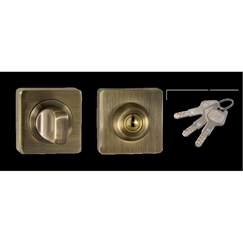 Фиксатор с ключом RENZ INBK-K 02 AB (бронза античная)