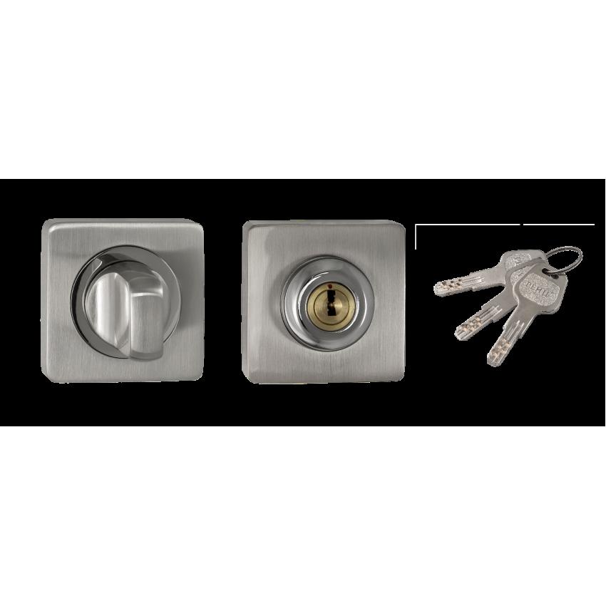 Фиксатор с ключом RENZ INBK-K 02 SN/NP (матовый никель/никель)