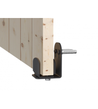 Нижний проводник металлический ROC DESIGN (чёрный матовый, настенное крепление)