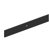 Направляющая для раздвижных дверей ROC DESIGN 1950 мм с 4 держателями (чёрная матовая)