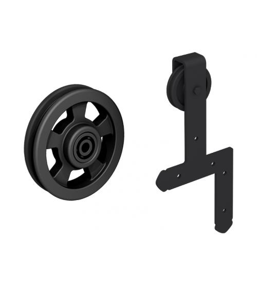 Комплект роликов для раздвижной двери ROC DESIGN IDUN (чёрный матовый, ролик с перфорацией)