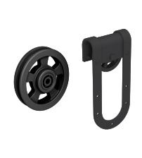 Комплект роликов для раздвижной двери ROC DESIGN MAGNI (чёрный матовый, ролик с перфорацией)