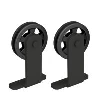 Комплект роликов для раздвижной двери ROC DESIGN MODI (чёрный матовый, ролик с перфорацией)