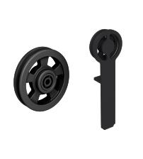 Комплект роликов для раздвижной двери ROC DESIGN RAN (чёрный матовый, ролик с перфорацией)