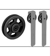 Комплект роликов для раздвижной двери ROC DESIGN THOR (серый матовый, ролик с перфорацией)