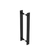 Комплект ручек-скоб для деревянных и стеклянных дверей ROC DESIGN ST (356 мм х 32 мм х 50 мм, чёрный матовый, 2 штуки)