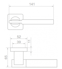 """Ручки дверные ROSSI LD-176-F21 """"TESA"""" SG/GP (матовое золото/золото)"""