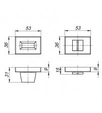 Фиксатор ARMADILLO URBAN CAVE WC-BOLT BK6 UCS BL-26 (матовый чёрный)