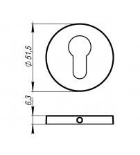 Накладки на цилиндр ARMADILLO URBAN Slim CYLINDER ET URS BPVD-77 (воронёный никель)