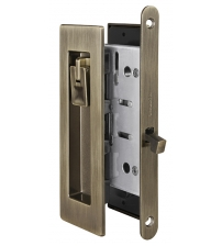 Ручки с защёлкой для раздвижных дверей ARMADILLO SH011 URB AB-7 (бронза)