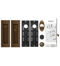 Ручки с защёлкой для раздвижных дверей ARMADILLO SH011 URB BB-17 (коричневая бронза)