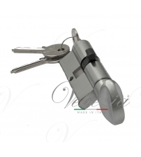 Цилиндровый механизм Venezia-60 25/10/25В (матовый хром, ключ-вертушка)