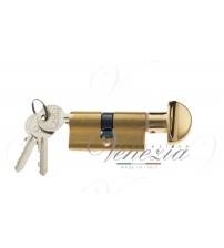 Цилиндровый механизм Venezia-60 25/10/25В (полированная латунь, ключ-вертушка)
