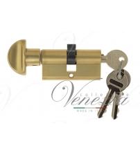 Цилиндровый механизм Venezia-60 25/10/25В (французское золото, ключ-вертушка)