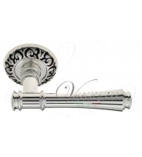 """Дверная ручка Venezia """"CALLISTO"""" D4 (натуральное серебро/чёрный)"""