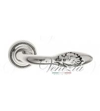 """Дверная ручка Venezia """"CASANOVA"""" D3 (натуральное серебро/чёрный)"""