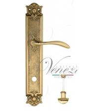"""Дверная ручка на планке Venezia """"ALESSANDRA"""" WC-2 PL97 (полированная латунь, с фиксатором)"""