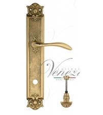 """Дверная ручка на планке Venezia """"ALESSANDRA"""" WC-4 PL97 (полированная латунь, с фиксатором)"""