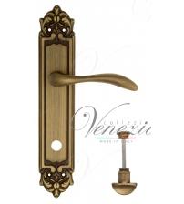 "Дверная ручка на планке Venezia ""ALESSANDRA"" WC-2 PL96 (матовая бронза, с фиксатором)"