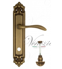 "Дверная ручка на планке Venezia ""ALESSANDRA"" WC-4 PL96 (матовая бронза, с фиксатором)"