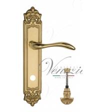 """Дверная ручка на планке Venezia """"ALESSANDRA"""" WC-4 PL96 (полированная латунь, с фиксатором)"""
