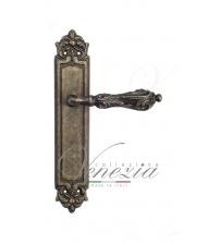 """Дверная ручка на планке Venezia """"MONTE CRISTO"""" PASS PL96 (античная бронза, проходная)"""