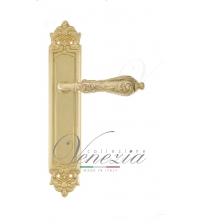 """Дверная ручка на планке Venezia """"MONTE CRISTO"""" PASS PL96 (полированная латунь, проходная)"""