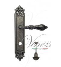 """Дверная ручка на планке Venezia """"MONTE CRISTO"""" WC-2 PL96 (античное серебро, с фиксатором)"""